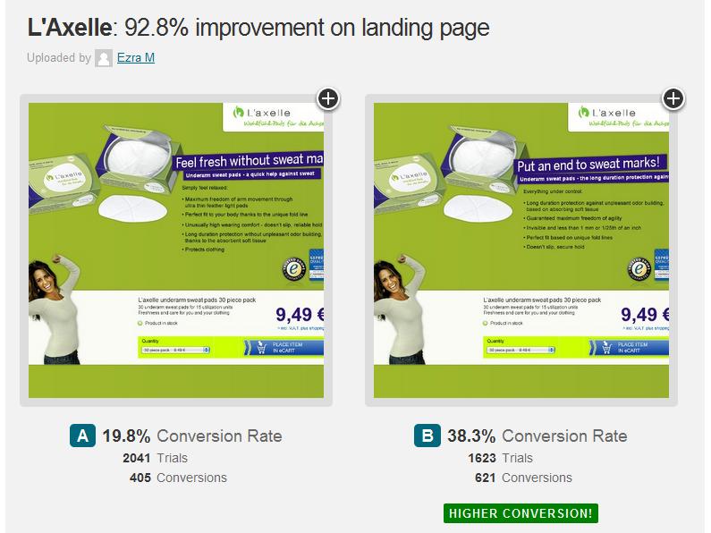 A/B test ukázal skoro 100% zvýšení konverzního poměru změnou textu