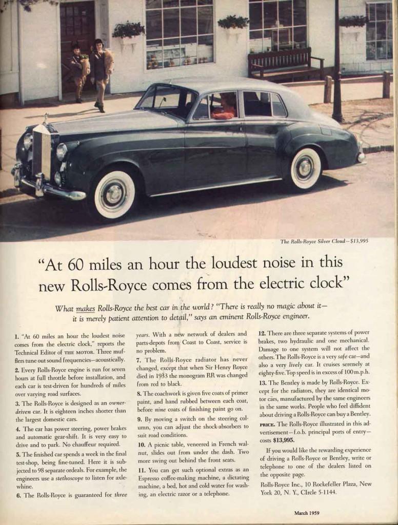 David Ogilvy - inzerce na Rolls-Royce