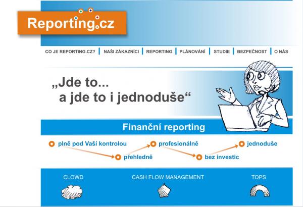 Reporting.cz – zamítnutý návrh grafiky