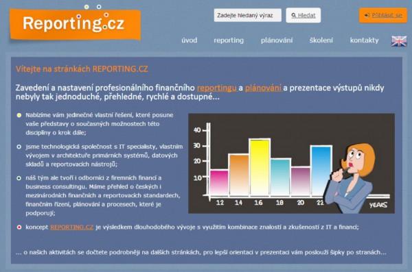 Reporting.cz –předchozí web
